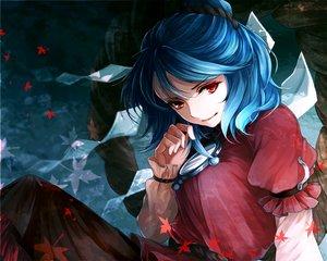 Rating: Safe Score: 133 Tags: awa_toka blue_hair red_eyes touhou waifu2x yasaka_kanako User: mattiasc02