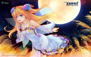 Rating: Safe Score: 152 Tags: aizawa_hikaru aqua_eyes blonde_hair dress halloween jpeg_artifacts long_hair microsoft night os-tan shinia User: oranganeh