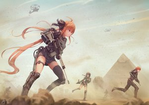 Rating: Safe Score: 247 Tags: anthropomorphism aqua_eyes fal_(girls_frontline) girls_frontline gun jay_xu long_hair mac-10_(girls_frontline) male military orange_hair ribbons signed weapon User: RyuZU