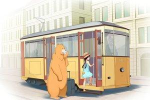 Rating: Safe Score: 32 Tags: amayadori_machi animal bear black_hair building dress hat kumai_natsu kumamiko loli tomitayaki User: RyuZU