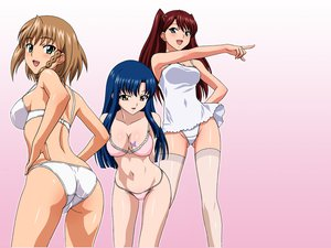 Rating: Safe Score: 101 Tags: aika_r-16 bra minamino_karen panties shinkai_eri sumeragi_aika thighhighs underwear User: HawthorneKitty