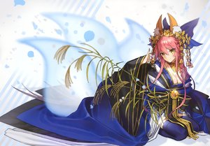 Rating: Safe Score: 38 Tags: animal_ears bell breasts cleavage fate/grand_order fate_(series) foxgirl headdress japanese_clothes kimono long_hair pink_hair scan tail tamamo_no_mae_(fate) thighhighs wada_rco yellow_eyes User: BattlequeenYume