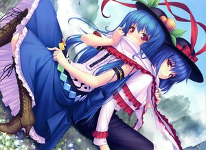 Rating: Safe Score: 81 Tags: 2girls blue_hair hat hinanawi_tenshi nagae_iku sayori touhou User: Wiresetc