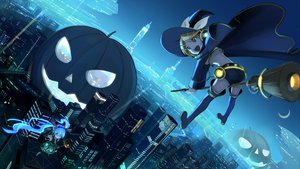 Rating: Safe Score: 119 Tags: aqua_hair beek blonde_hair city green_eyes halloween hat hatsune_miku kagamine_rin long_hair moon night pumpkin thighhighs twintails vocaloid witch User: HawthorneKitty