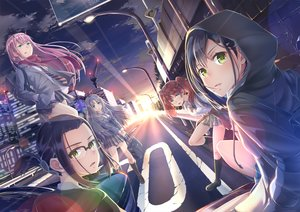 Rating: Safe Score: 30 Tags: blue_eyes blue_hair bow brown_hair building city clouds darling_in_the_franxx glasses green_eyes group hoodie horns ichigo_(darling_in_the_franxx) ikuno_(darling_in_the_franxx) imo_bouya kneehighs kokoro_(darling_in_the_franxx) long_hair miku_(darling_in_the_franxx) pink_hair ponytail scarf seifuku short_hair sky sunset tie twintails zero_two User: BattlequeenYume