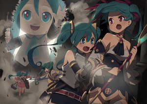 Rating: Safe Score: 80 Tags: bow_(weapon) hatsune_miku nurse ssberit tears vocaloid wand weapon User: FormX