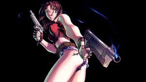 Rating: Questionable Score: 117 Tags: black_lagoon gun hiroe_rei revy smoking weapon User: Wolvie