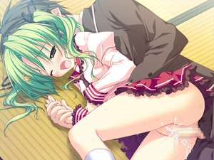 Rating: Explicit Score: 96 Tags: censored game_cg green_hair hoshizora_e_kakaru_hashi penis pussy pussy_juice seifuku sex toudou_koyori User: ホタル