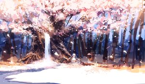 Rating: Safe Score: 185 Tags: forest leaves original petals prophet_heart tree twintails water waterfall User: FormX