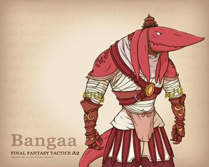 Rating: Safe Score: 4 Tags: bandage bangaa blue_eyes final_fantasy final_fantasy_tactics_a2 gloves hat tail User: Oyashiro-sama