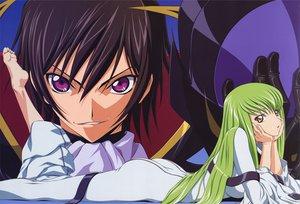 Rating: Safe Score: 9 Tags: cc code_geass fukano_youichi green_hair lelouch_lamperouge male User: Oyashiro-sama