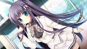 Rating: Safe Score: 63 Tags: chuablesoft game_cg green_eyes hatori_piyoko long_hair purple_hair seifuku sumeragi_rinne thighhighs zannen_na_oretachi_no_seishun_jijou. User: Wiresetc