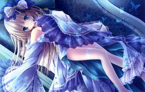 Rating: Questionable Score: 186 Tags: blonde_hair blue_eyes dress loli long_hair nopan original thighhighs tinkle User: drich007