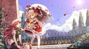 Rating: Safe Score: 71 Tags: 2girls chinese_clothes flandre_scarlet hong_meiling loli pantyhose teddy_bear thighhighs touhou umbrella vampire wings yetworldview_kaze User: BattlequeenYume