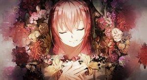 Rating: Safe Score: 151 Tags: flowers fumio_(kanmi) long_hair megurine_luka pink_hair polychromatic vocaloid waifu2x User: FormX
