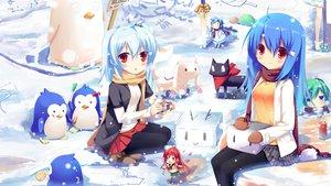 Rating: Safe Score: 180 Tags: animal ano_hi_mita_hana_no_namae_wo_bokutachi_wa_mada_shiranai bili_bili_douga bili_girl_22 bili_girl_33 blue_hair cat chibi clannad crossover fate/stay_night food gintama gloves hatsune_miku ikamusume katana kyuubee liong mahou_shoujo_madoka_magica mawaru_penguindrum nichijou pantyhose penguin red_eyes sakamoto_(nichijou) scarf seifuku shakugan_no_shana shana shinryaku!_ikamusume snow sword vocaloid weapon white_hair User: SciFi