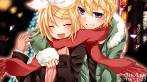 Rating: Safe Score: 43 Tags: blonde_hair blue_eyes kagamine_len kagamine_rin vocaloid yayoi_(egoistic_realism) User: HawthorneKitty