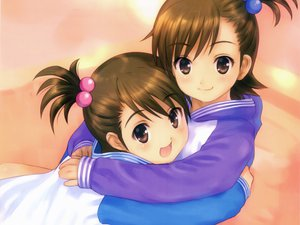 Rating: Safe Score: 32 Tags: 2girls futami_ami futami_mami goto_p idolmaster twins User: meccrain