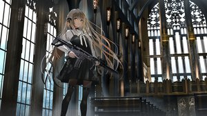 Rating: Safe Score: 158 Tags: brown_eyes brown_hair dress gothic gun long_hair original pantyhose swav weapon User: BattlequeenYume