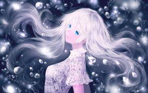 Rating: Safe Score: 30 Tags: aqua_eyes bou_nin bubbles close long_hair original polychromatic white_hair User: BattlequeenYume