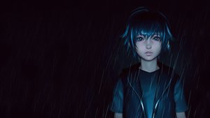 Rating: Safe Score: 49 Tags: all_male blue_eyes blue_hair dark final_fantasy final_fantasy_xv ilya_kuvshinov male noctis_lucis_caelum photoshop rain water User: SciFi