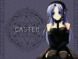 Rating: Safe Score: 21 Tags: caster dress fate/stay_night shingo_(missing_link) thighhighs User: Oyashiro-sama