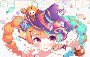Rating: Safe Score: 169 Tags: candy close hat hatsune_miku jpeg_artifacts lollipop nou twintails vocaloid User: opai