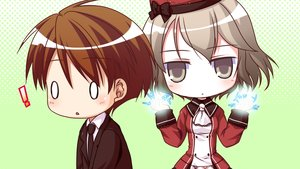 Rating: Safe Score: 27 Tags: arima_yousuke brown_eyes brown_hair chibi game_cg ko~cha male saimon_eclair suit tie windmill_(company) witch's_garden User: AnimalsNight
