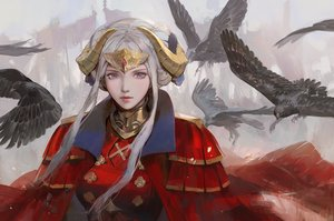 Rating: Safe Score: 46 Tags: animal bird cape edelgard_von_hresvelg fire_emblem horns realistic yueko_(jiayue_wu) User: FormX