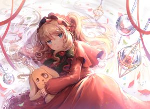 Rating: Safe Score: 38 Tags: aqua_eyes blonde_hair dress headdress kunkun lolita_fashion long_hair petals rozen_maiden shinku tagme_(artist) User: RyuZU