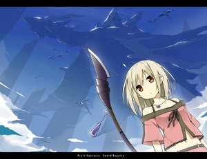 Rating: Safe Score: 68 Tags: blonde_hair dragon necklace pixiv_fantasia red_eyes sky sky_(freedom) weapon User: opai