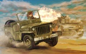 Rating: Safe Score: 75 Tags: brown_hair car combat_vehicle hat military original room_(room443) User: Flandre93