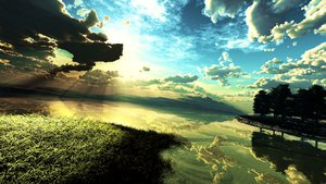 Rating: Safe Score: 216 Tags: 3d clouds grass landscape nobody original reflection scenic sky tree water y-k User: STORM