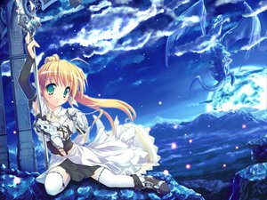 Rating: Safe Score: 9 Tags: long_hair sky sword tagme weapon User: Eruku
