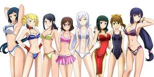 Rating: Safe Score: 145 Tags: aila_jyrkiainen bikini gundam_build_fighters gundam_(series) iori_rinko jpeg_artifacts kenken kousaka_china mihoshi_(gundam_bf) misaki_(gundam_bf) ootake_akemi samejima_yukari swimsuit tagme yajima_caroline User: Glublock