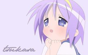 Rating: Safe Score: 14 Tags: hiiragi_tsukasa loli lucky_star purple_eyes purple_hair short_hair User: Oyashiro-sama