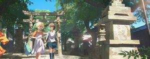 Rating: Safe Score: 38 Tags: 2girls original short_hair shrine torii yukimachi_(yuki_no_city) User: Dreista