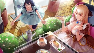 Rating: Safe Score: 41 Tags: animal black_eyes black_hair blonde_hair braids breasts cake cat cleavage collar crossover dress drink flowers food forever_7th_capital fruit hat hmniao orange_eyes reflection shiina_mayuri short_hair steins;gate strawberry wristwear User: RyuZU