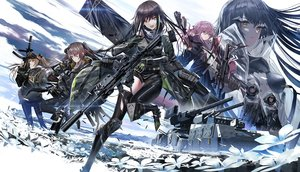 Rating: Safe Score: 120 Tags: aliasing anthropomorphism armor black_hair brown_eyes brown_hair clouds flowers girls_frontline gloves group gun hoodie long_hair m4a1_(girls_frontline) ponytail purple_hair scar skirt sky st_ar-15_(girls_frontline) swav thighhighs torn_clothes twintails ump-45_(girls_frontline) ump-9_(girls_frontline) weapon wink yellow_eyes User: RyuZU