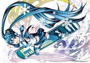 Rating: Safe Score: 64 Tags: earmuffs hatsune_miku snow torigoe_takumi twintails vocaloid User: aoyoru
