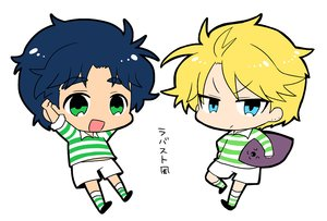 Rating: Safe Score: 16 Tags: all_male aqua_eyes ball blonde_hair blue_hair chibi dio_brando green_eyes jojo_no_kimyou_na_bouken jonathan_joestar male short_hair sport tagme_(artist) waifu2x User: otaku_emmy