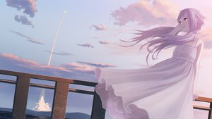 Rating: Safe Score: 49 Tags: clouds dress long_hair purple_hair scenic sky summer_dress twintails vocaloid water yue_(yueanh) yuzuki_yukari User: Flandre93