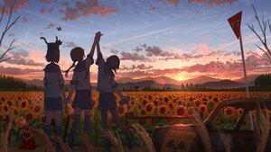 Rating: Safe Score: 28 Tags: animal cat clouds flowers original pasoputi scenic school_uniform sky sunflower sunset User: FormX