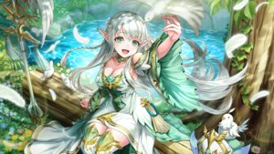 Rating: Safe Score: 47 Tags: animal bird dress feathers flowers gray_hair long_hair noa_(valkyrie_connect) pointed_ears tagme_(artist) valkyrie_connect water User: BattlequeenYume