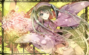 Rating: Safe Score: 54 Tags: hat hatsune_miku long_hair mitsu_yomogi senbon-zakura_(vocaloid) twintails vocaloid wink User: opai