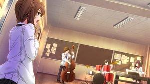 Rating: Safe Score: 28 Tags: bow drums game_cg hinasaki instrument jin_satsuki jirai_soft short_hair skirt thighhighs tie tsuisou_no_augment User: Maboroshi