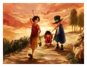 Rating: Safe Score: 51 Tags: monkey_d_luffy one_piece portgas_d_ace sabo tsuyomaru User: FormX