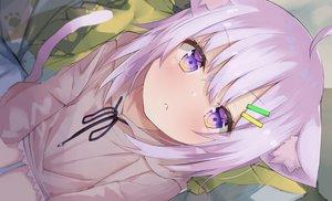 Rating: Safe Score: 139 Tags: aliasing animal_ears blush catgirl close eureka_814 hololive hoodie nekomata_okayu purple_eyes purple_hair short_hair tail User: otaku_emmy