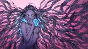 Rating: Safe Score: 60 Tags: aqua_eyes foo_midori long_hair original polychromatic purple_hair sketch User: otaku_emmy