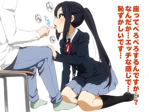 Rating: Safe Score: 172 Tags: black_hair brown_eyes k-on! karada_asobi long_hair nakano_azusa seifuku twintails white User: opai